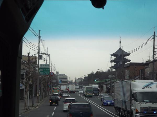 東寺の傍ら