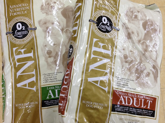 ANF 成犬用 ラム味1袋とチキン味1袋 15kg