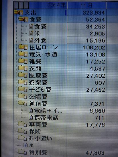 2014/11家計簿