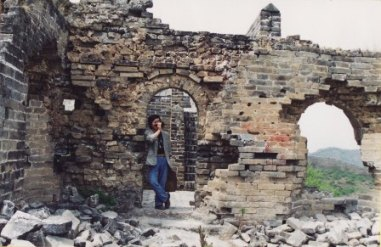 万里の長城にて