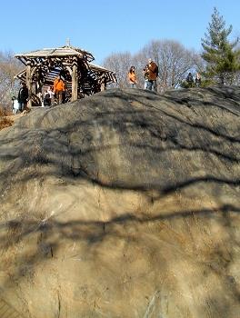セントラルパークこども動物園の岩山