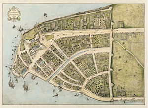1660年のロウア―マンハッタン