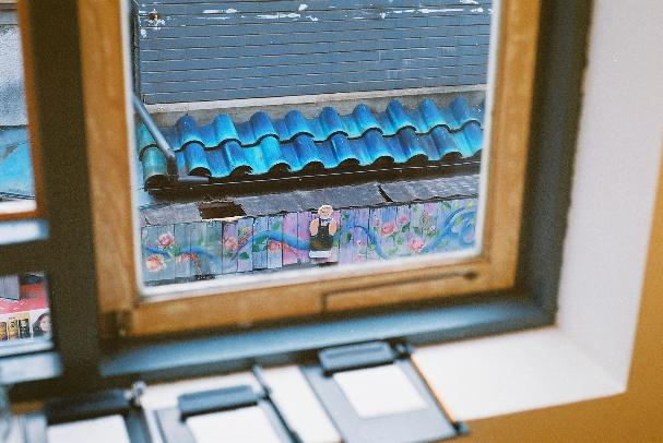 中崎町 窓の外