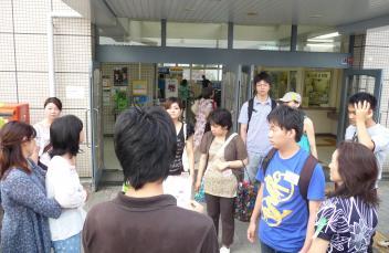 JR藤森駅に集合