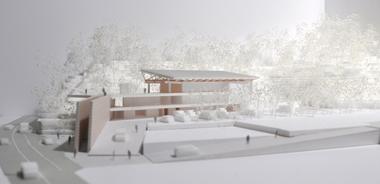 オープンデスク建築模型