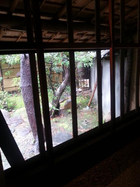 お茶室からの景色