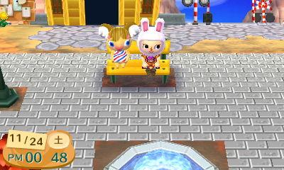 ベンチにコアラが座った!