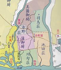 中世の天龍川付近荘園