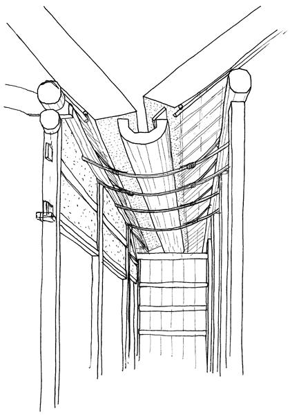 大きな雨樋のイラスト