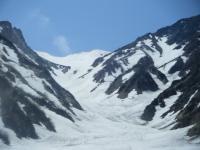 大雪渓上部