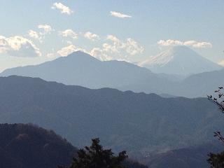 20121212頂上から富士山