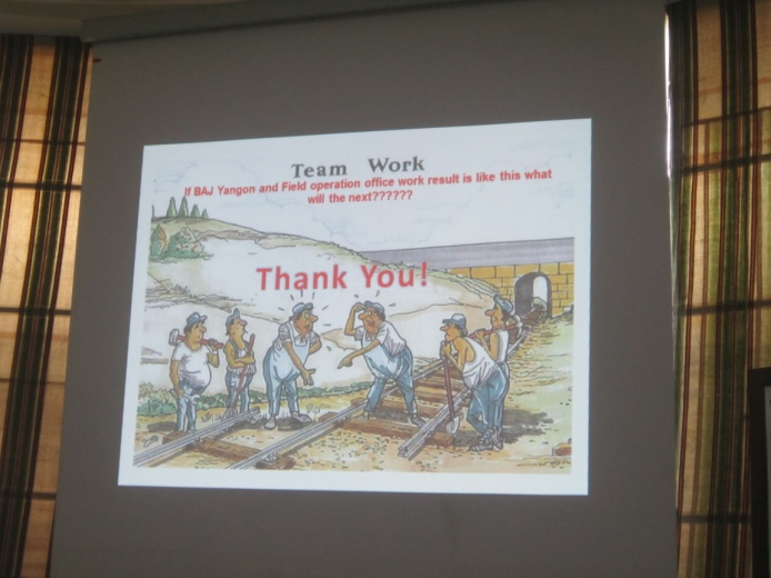 ミャンマーで年次報告会を開催しました!④