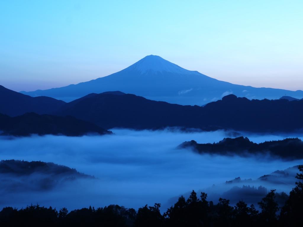 清水吉原 雲海と富士山1