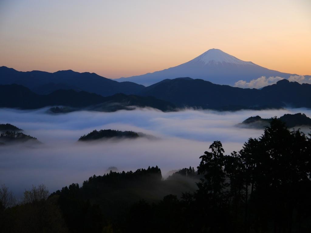 清水吉原 雲海と富士山2