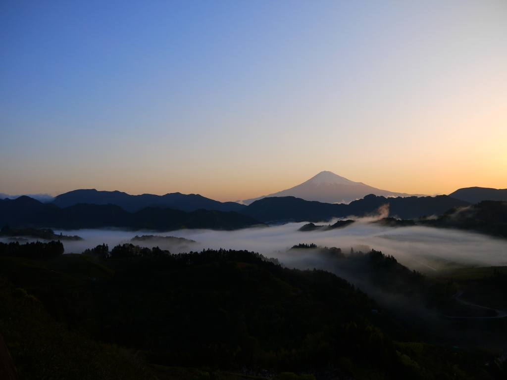 清水吉原 雲海と富士山3