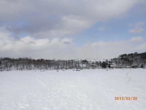 バラギ湖のワカサギつり