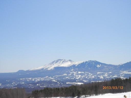 バラギゲレンデよりの浅間山