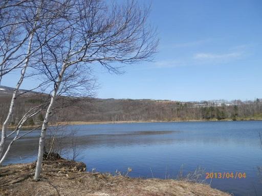 春のバラギ湖