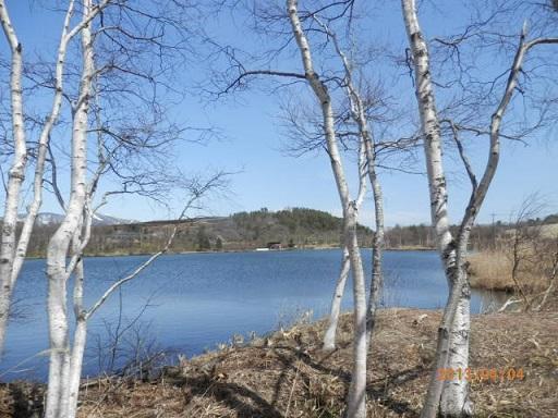 4月の「バラギ湖」 宿よりお車にて約3分