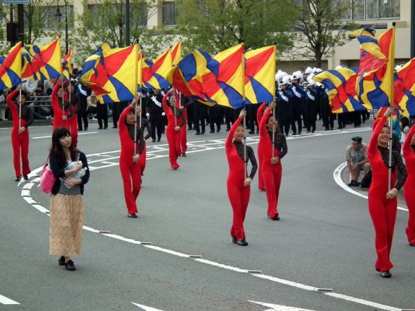 神奈川県立湘南台高校吹奏楽部によるマーチングパレード