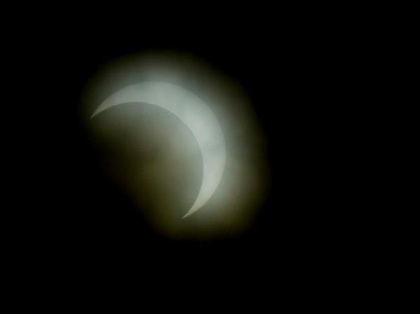 金環日食が終わった後に見れた太陽