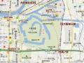 大阪城付近(ヤフー地図より)