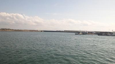 釣り場から眺める銚子漁港