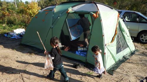 どんぐり山 初キャンプ