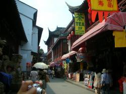 豫園商城内の商店街