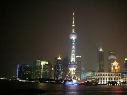 さっき行った上海テレビ塔