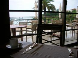 朝食を食べる場所はこんな感じ