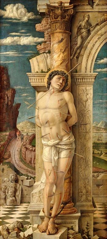 アンドレア・マンテーニャ_Andrea_Mantegna_St_Sebastian_1457-59