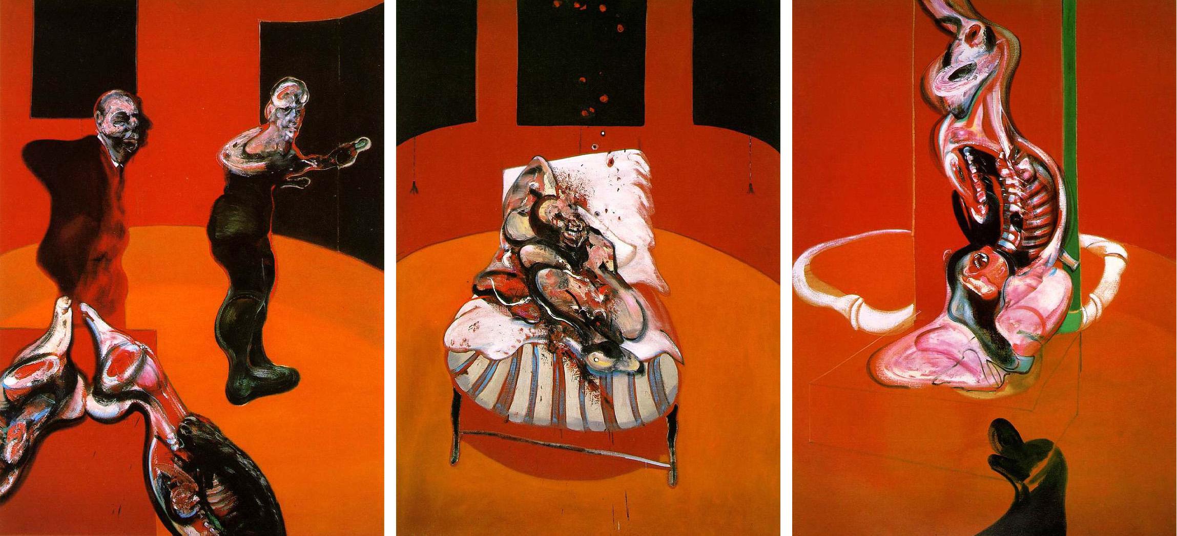 フランシス・ベーコン《磔刑図のための三習作》1962