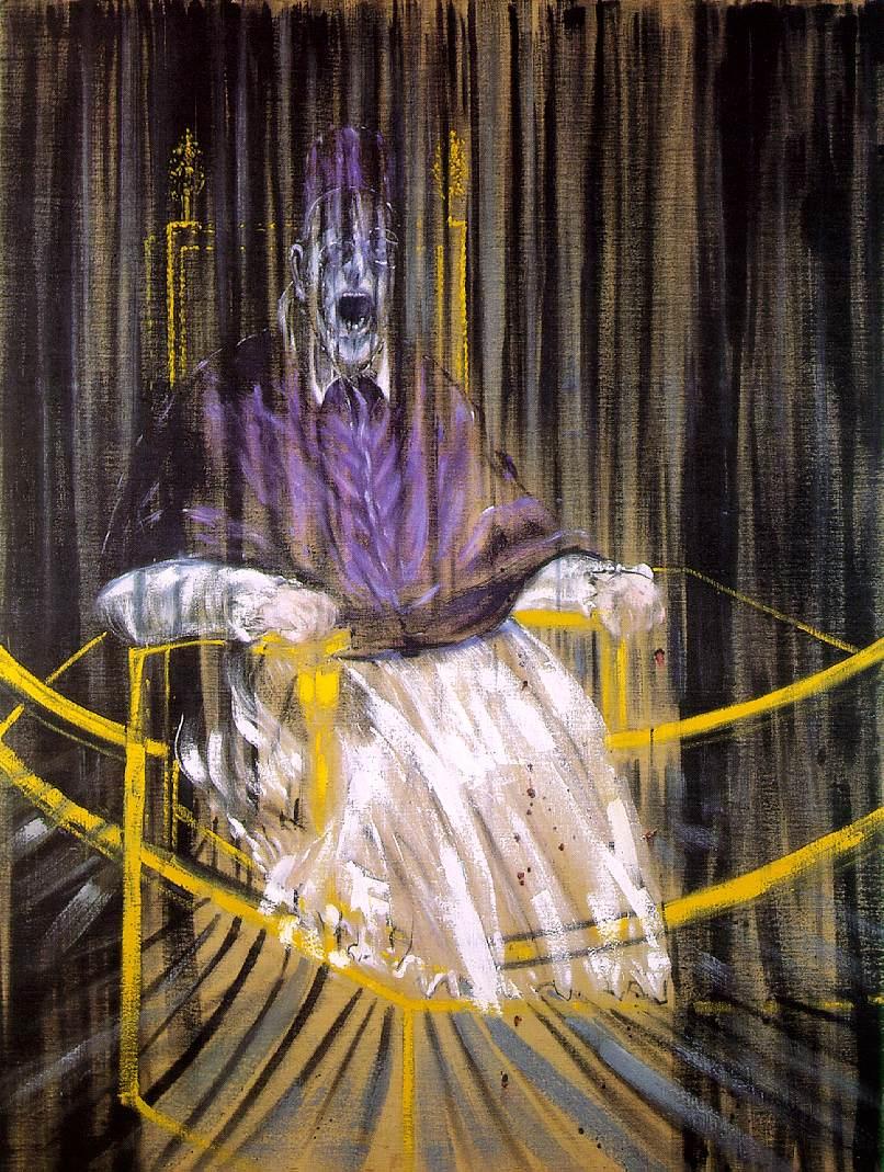 フランシス・ベーコン作《ベラスケス『教皇インノケンティウス10世の肖像』に基づく習作》1953