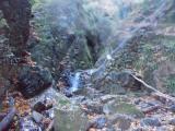 クサリもある岩場