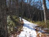 トレイル上の雪