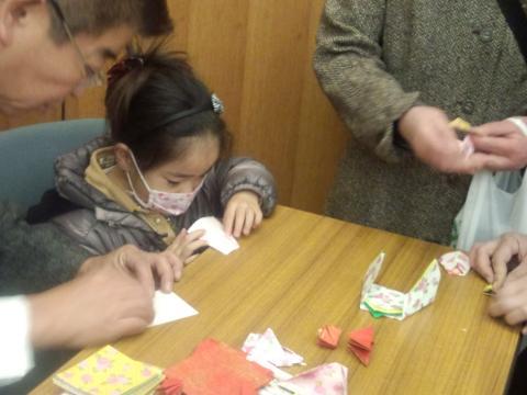 折り紙教室 受講中