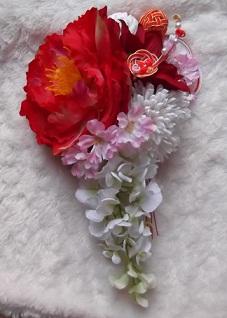 桜入り髪飾り