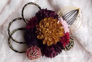 秋色マムの髪飾り