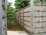 二条城の竹の塀