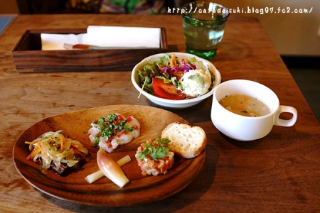 ヒドリ食堂◇ちょっとだけセット(前菜3種盛り合わせ、サラダ、スープ)