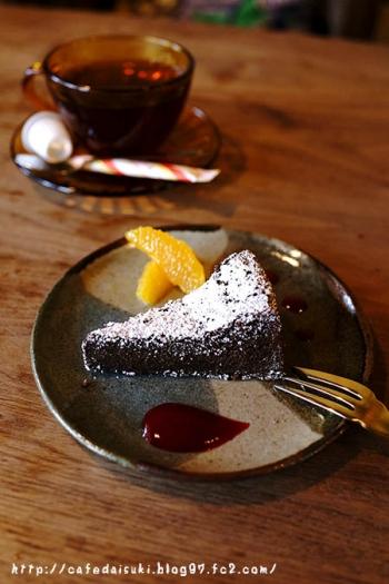 ヒドリ食堂◇ガトーショコラ&紅茶(アールグレイ)
