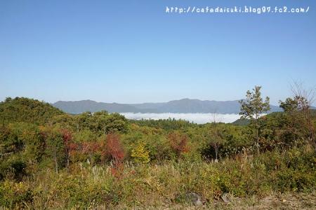 道の駅しもごうから見た雲海@福島県下郷町