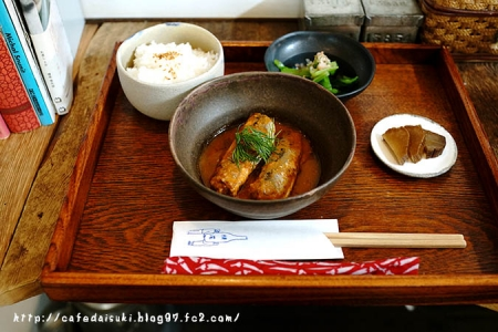 お茶とお菓子 横尾◇高知うるめいわしのオリーブオイルトマト煮