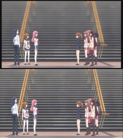 階段のピントを修正