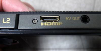 上にはHDMI端子