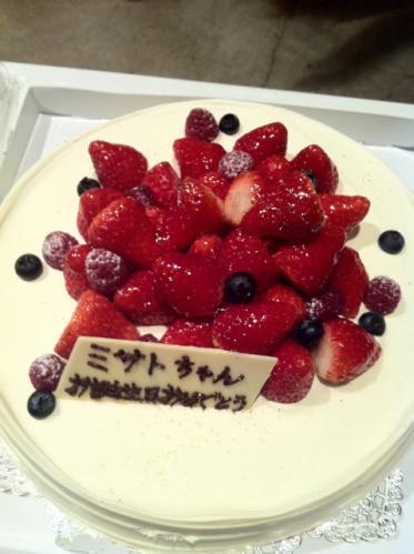 福圓美里さんへのケーキ