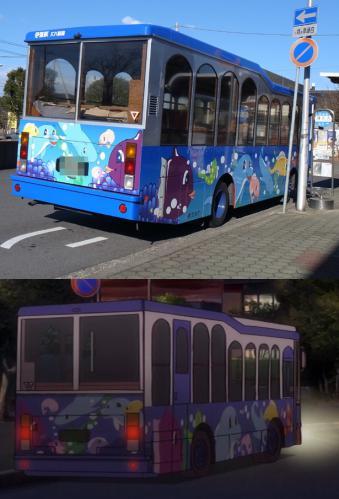 バスのペイントもすごい