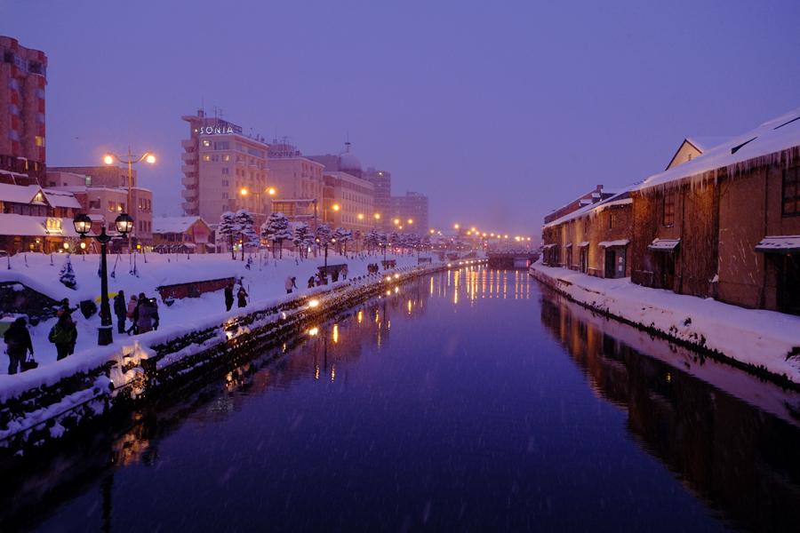 小樽運河雪