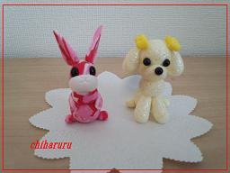 meisai-rabbitshining poodle1